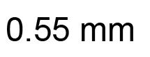0.55mm