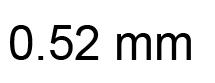 0.52mm