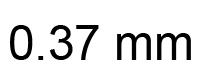 0.37mm