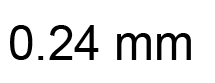 0.24mm