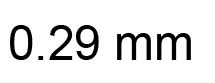 0.29mm