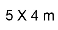 5x4 m