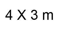 4x3 m