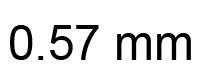 0.57mm