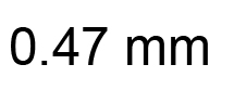 0.47mm