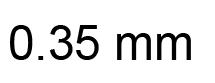 0.35mm