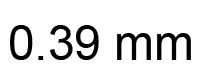 0.39mm