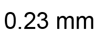 0.23mm