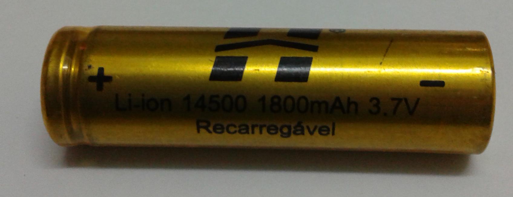 Batéria Lítio 14500 Recarregável Hy