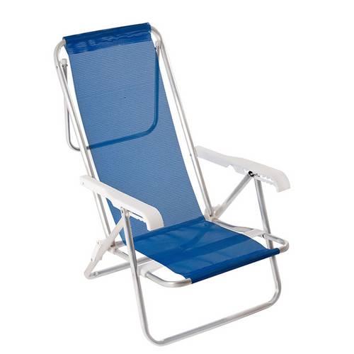 Cadeira Reclinavel 8 Posições em Alumínio Mor